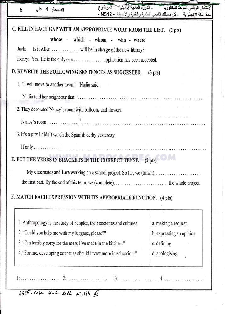 Exemple Writing bac Marocain anglais lycée et cours anglais lycée (English) (ofppt, ista) parie 2