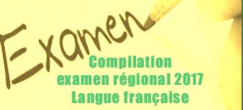 Examen régional bac 2017 - Maroc - compilation